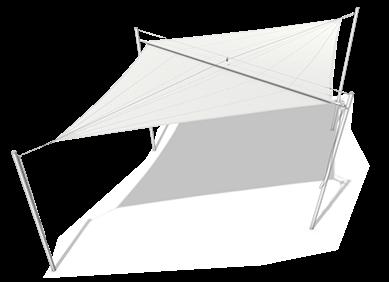 SOLIDAY-A ist ein manuell aufrollbares Sonnensegel der Einstiegsklasse