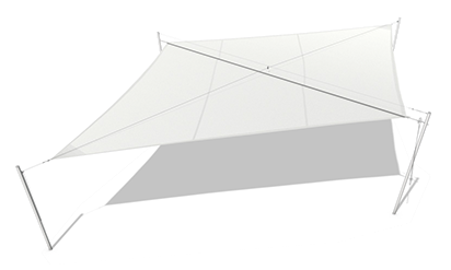 SOLIDAY-M ist ein manuell aufrollbares Sonnensegel der Einstiegsklasse