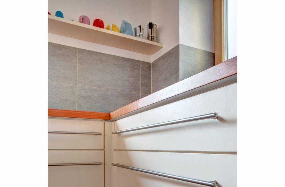 Küche Schubladenfronten in Schichtstoff Winterweiß