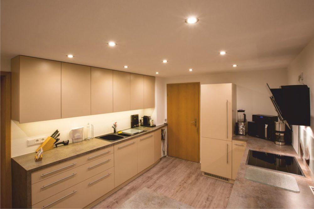 Küche im eleganten Design als Raumkonzept