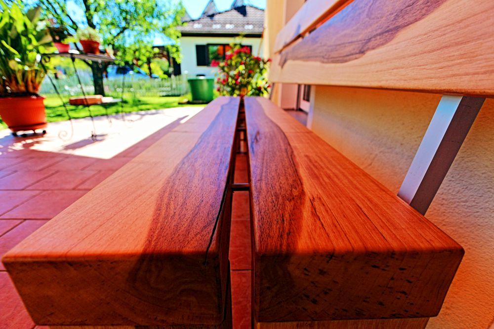 Garten – Terrassen Bank in Nußbaum