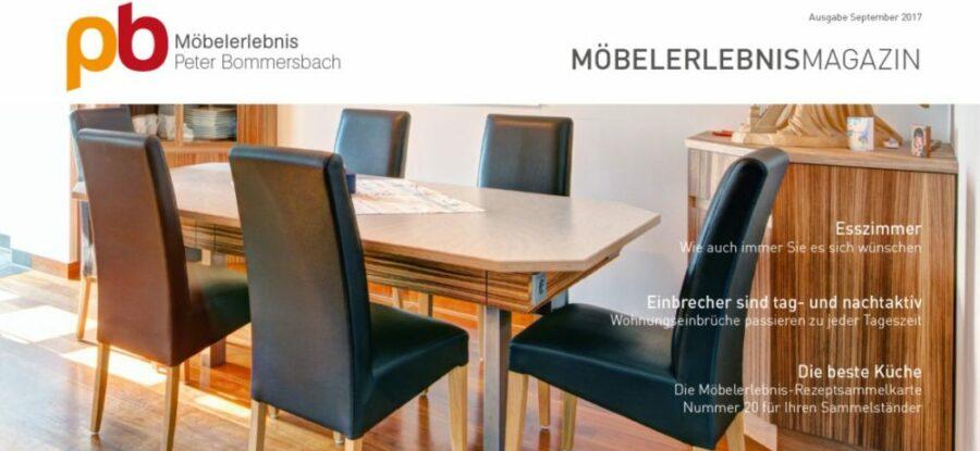 MöbelerlebnisMagazin September 2017 Möbel Esszimmer Einbruchschutz