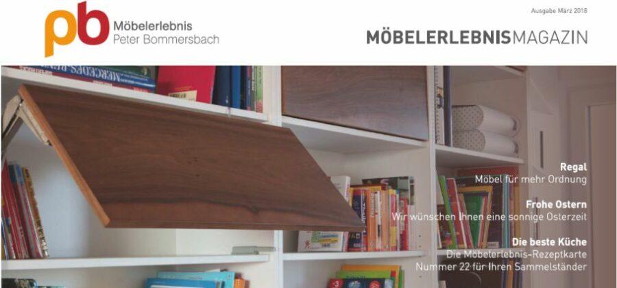 MöbelerlebnisMagazin März 2018 Regal Möbel