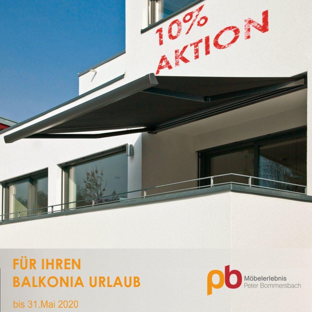 10% Aktion auf Markisen bis 31.Mai 2020