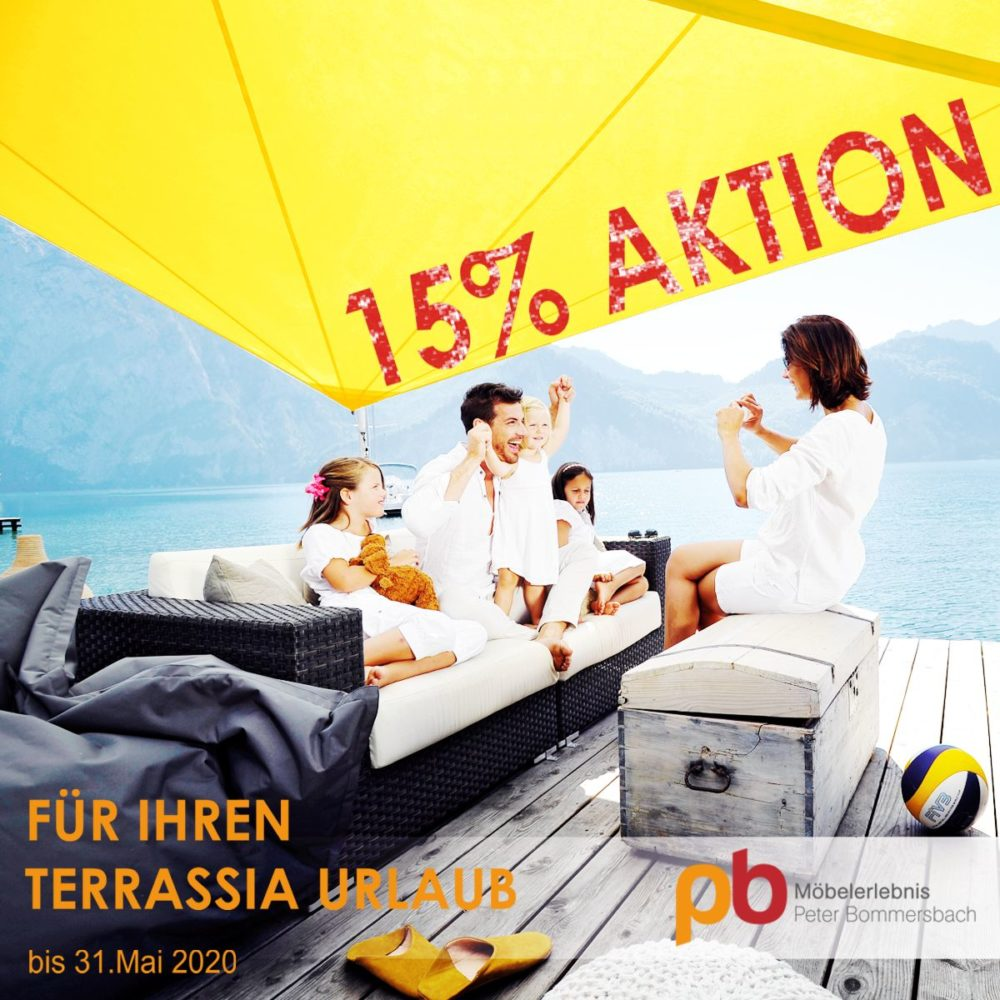 15% Aktion auf AUFROLLBARE SONNENSEGEL bis 31.Mai 2020