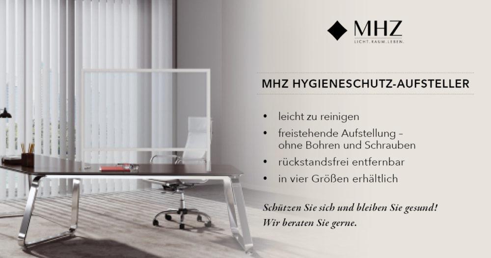 MHZ Hygieneschutz-Aufsteller