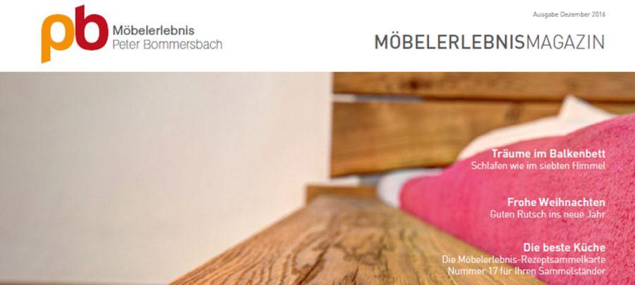 MöbelerlebnisMagazin Dezember 2016 Balkenbett in Eiche
