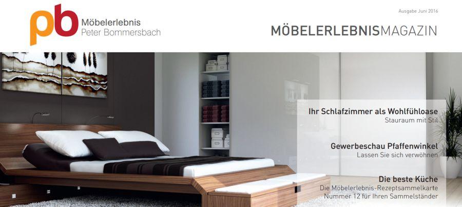 MöbelerlebnisMagazin Juni 2016 Schlafzimmer, Wohnzimmer und Küche