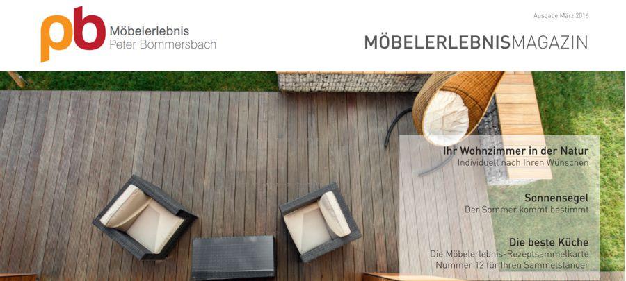 MöbelerlebnisMagazin März 2016 Terrasse Sonnensegel