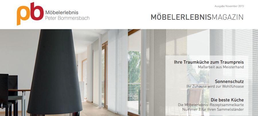 MöbelerlebnisMagazin November 2015 Möbel, Küchen und Sonnenschutz