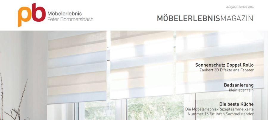 MöbelerlebnisMagazin Oktober 2016 Sonnenschutz Doppel Rollo Badsanierung