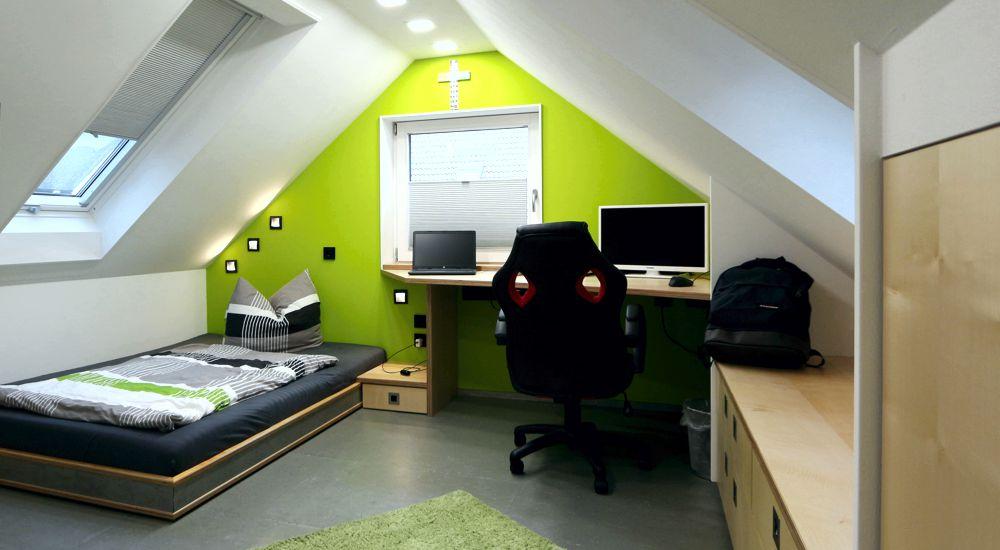 Jugendzimmer unterm Dach